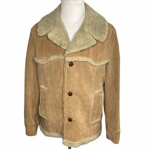 The Leather Shop Sears Sherpa Lined Leather Jacket